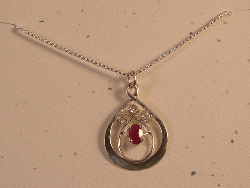 Diamond and Ruby Pendant